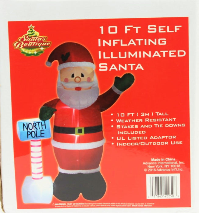 10 ft Santa at the North Pole Christmas Inflatable - Valsan Inc