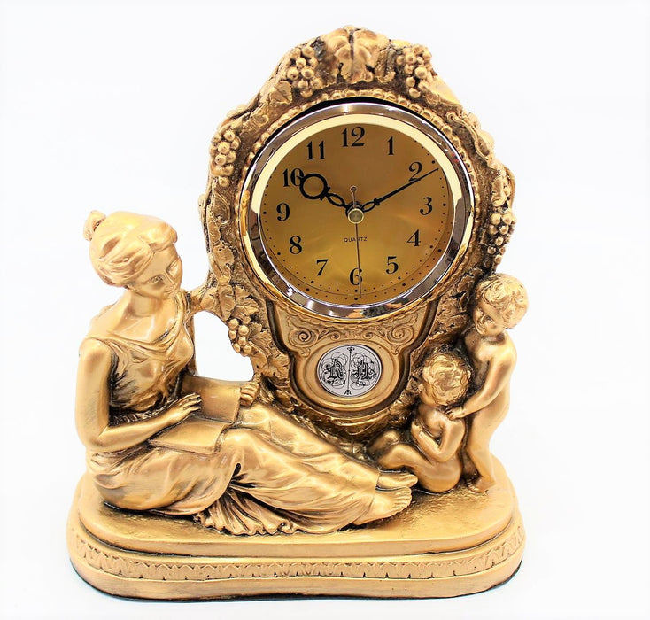 Woman and Children/Gold Clock