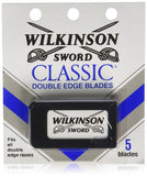 5 Wilkinson Sword Classic Double Edge Safety Razor Blades - Valsan Inc
