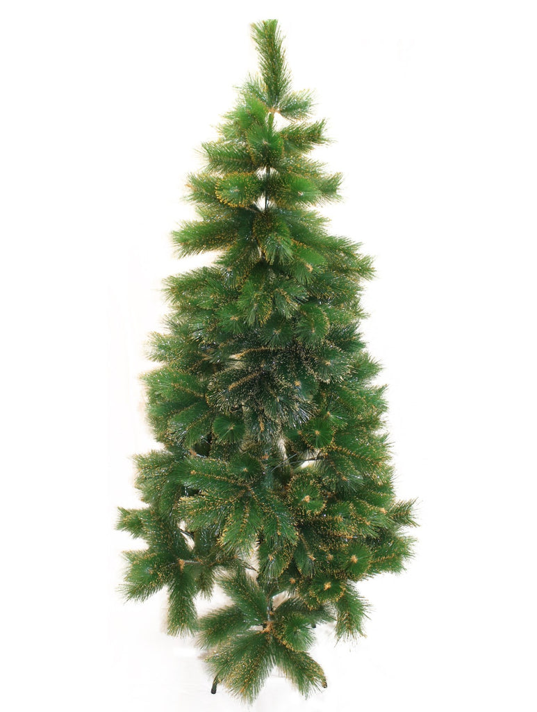 6 ft. Green with Gold Tips Artificial Christmas Tree - Valsan Inc