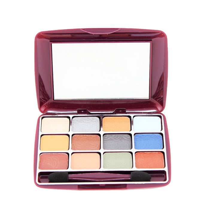 Br,12 Colors Shimmer Eye Shadows Makeup Set