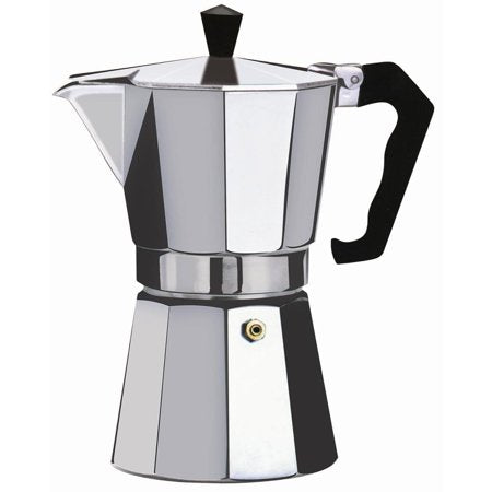 Espresso Coffee Maker, 3, 6, 9 and 12 Cup.