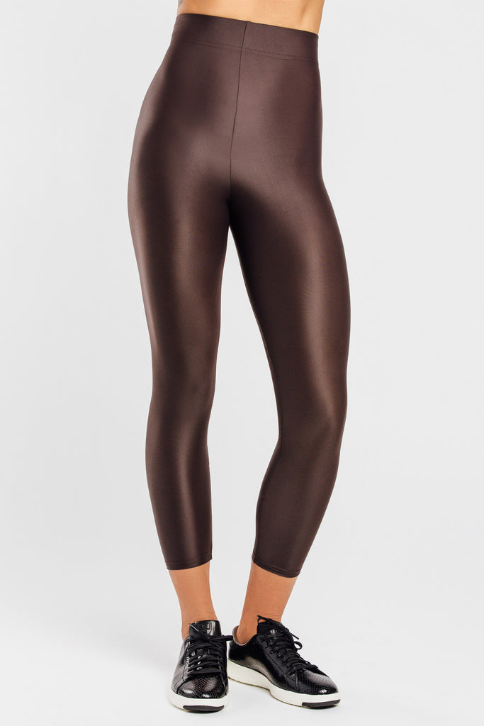 VALENXE Slimming Crop Legging with CONCĒLĀRE™ Casual Wear in Brown