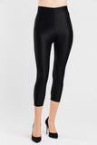 VALENXE Slimming Crop Legging with CONCĒLĀRE™ Evening Wear in Black
