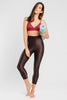VALENXE Slimming Crop Legging with CONCĒLĀRE™ Yoga Wear in Brown