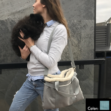 Load image into Gallery viewer, Shoulder strap dog travel bed