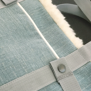Turquoise, stylish dog travel bed