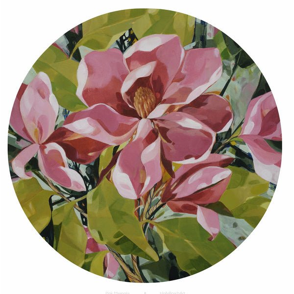 Round Botanical Prints