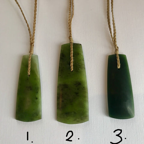 Pounamu (Greenstone) Pendants