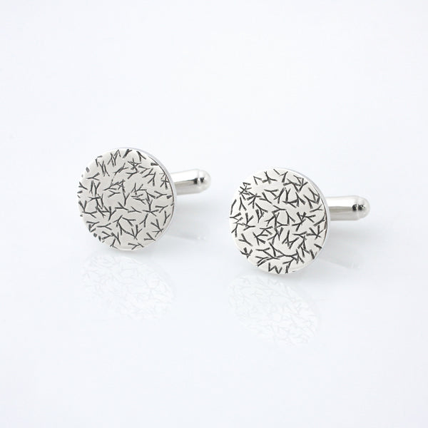 Contemporary Sterling Silver Cufflinks