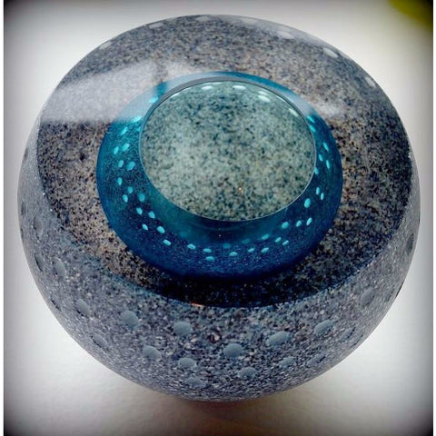 Granite Geode Glass Sculpture