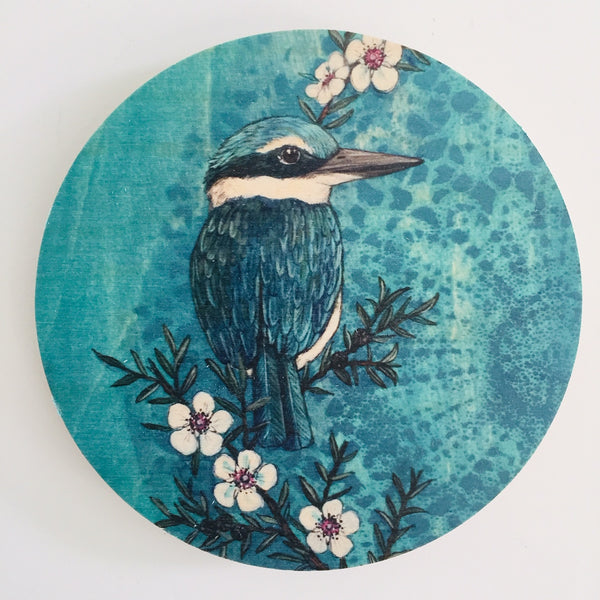 Turquoise Native Bird Wall Discs