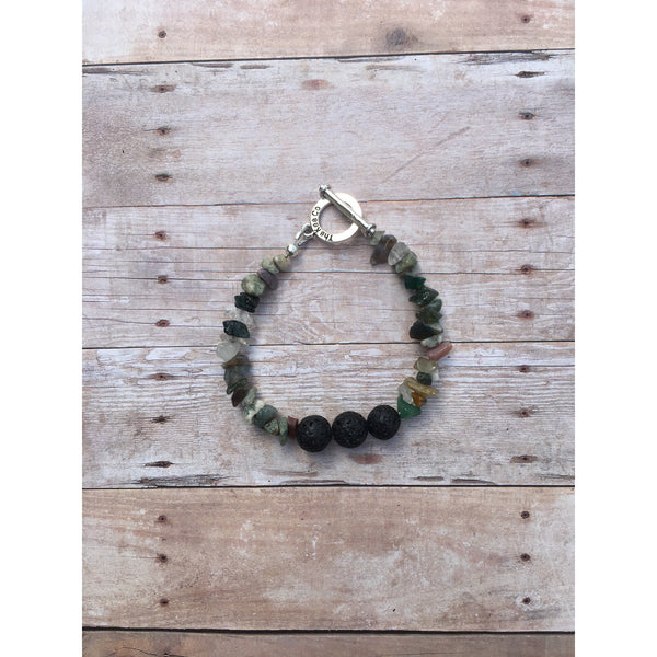 Fancy Jasper Gemstone Chip Bracelet