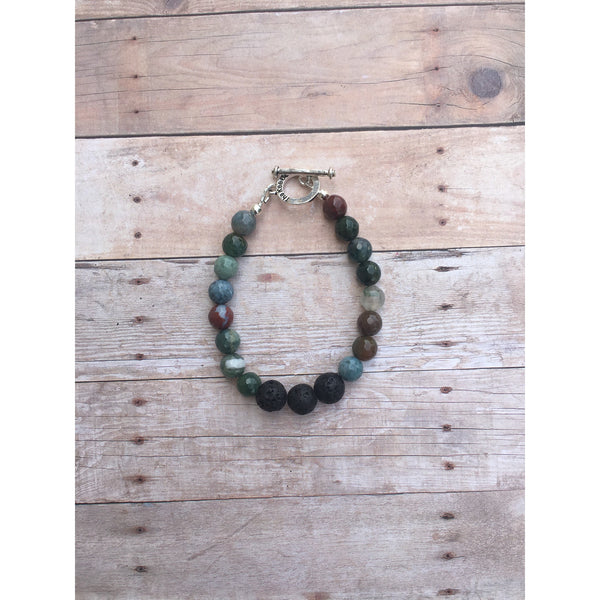 Fancy Jasper Essential Oil Diffuser Bracelet