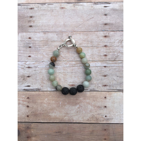 Amazonite Essential Oil Gemstone Bracelet