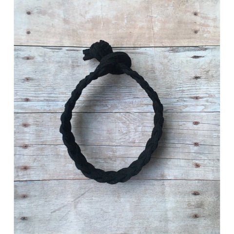 Black Braided Suede Bracelet