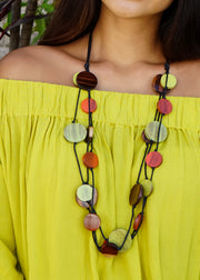 Multi-layer Wood Necklace
