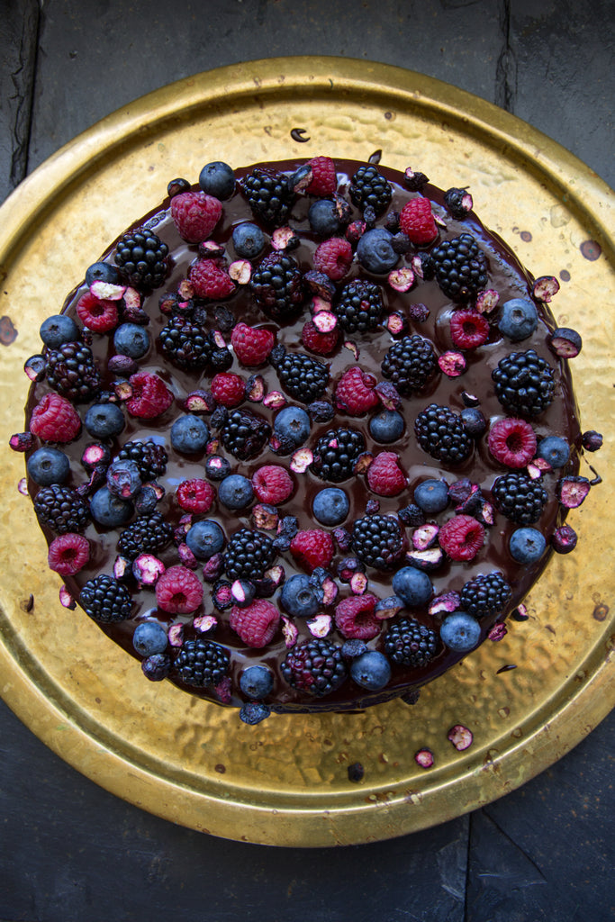 Vegan Chocolate Berry Cake