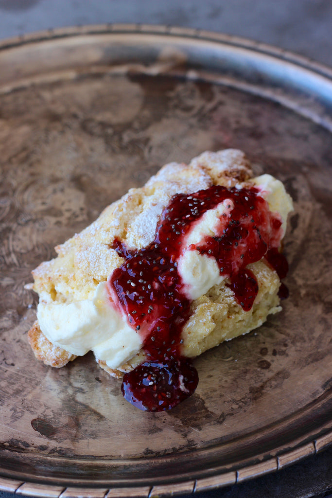 Scone with Chia Jam & Cream - ripe delicatessen