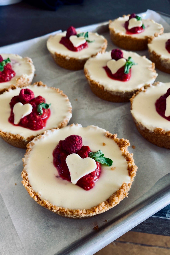 Raspberry + White Chocolate & Vanilla Cheesecake - Catering