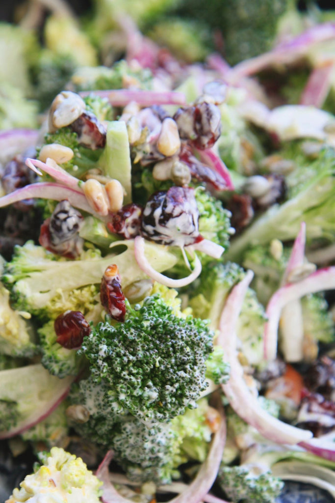 Raw Broccoli, Cranberry & Toasted Seeds - ripe delicatessen