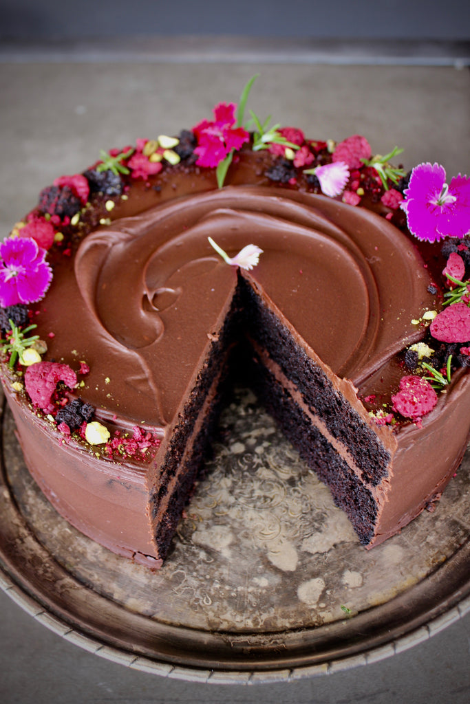 Decadent Dark Chocolate Cake - Catering