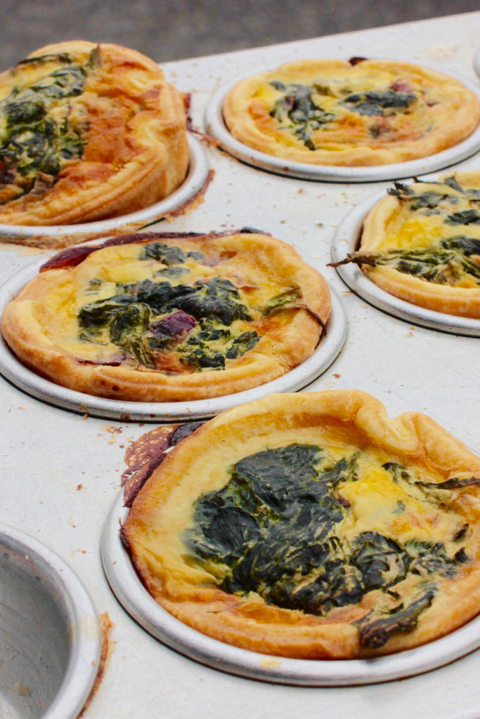 Mini Spinach & Feta Quiche or Frittata x 5 - ripe delicatessen