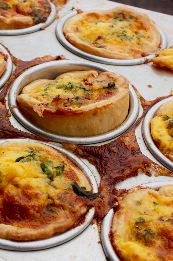 5 x Mini Bacon & Egg Quiche - ripe delicatessen