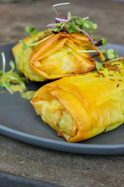 Vegan Middle Eastern Spiced Vegetable Filo  - Catering