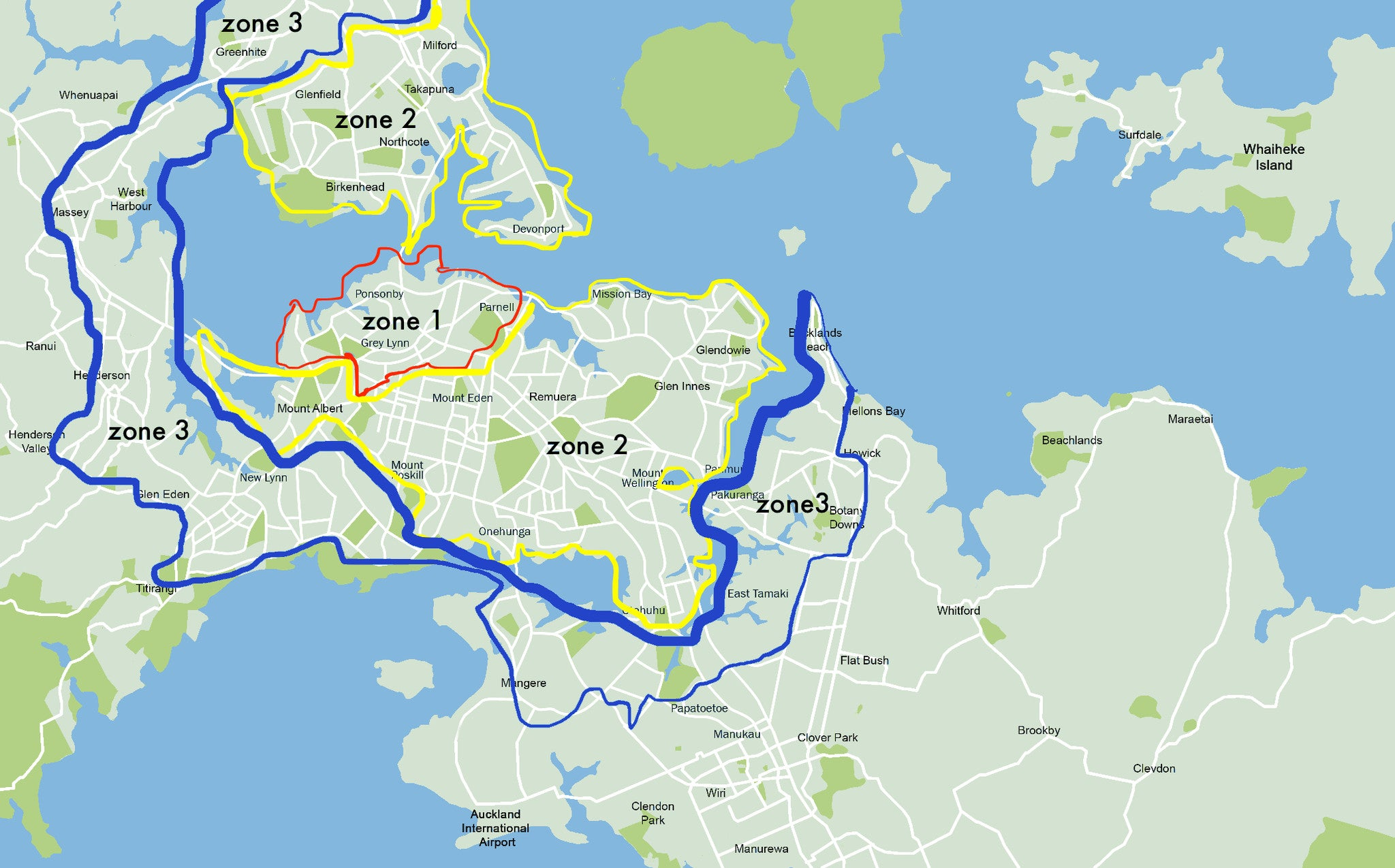 Delivery Areas Zones For Auckland RIPE DELICATESSEN
