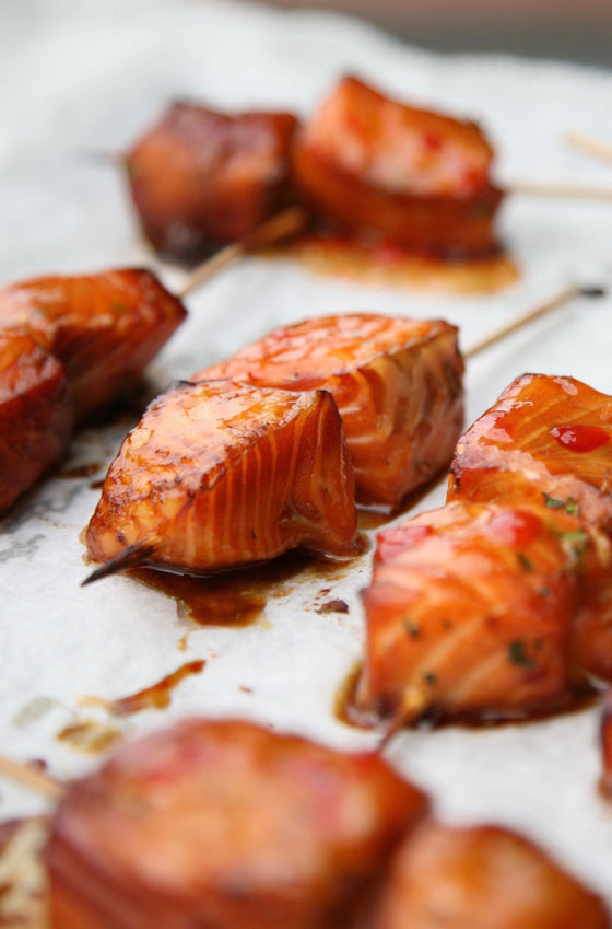 Salmon skewers x 5 - ripe delicatessen