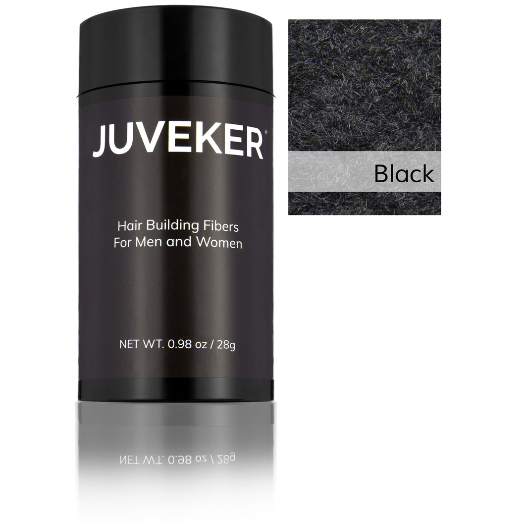 Juveker Hair Fiber Bottle in Color Black