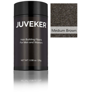 Juveker Hair Fiber Bottle in Color Medium Brown