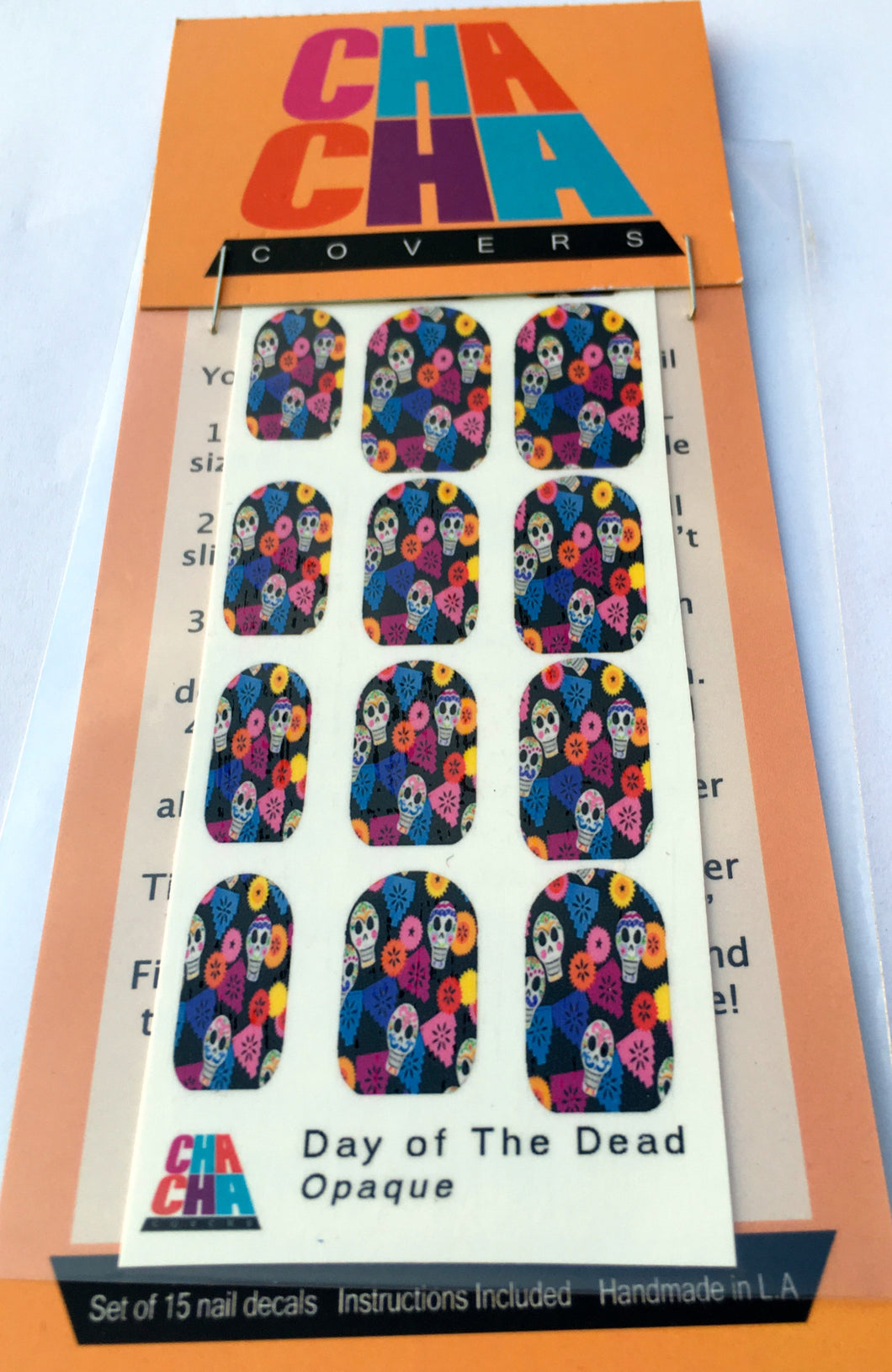 Day of the Dead Skulls and Papel Picado Nail Decals