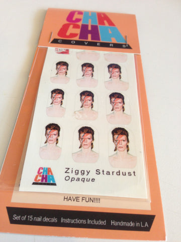 Ziggy Stardust David Bowie Nail Decals