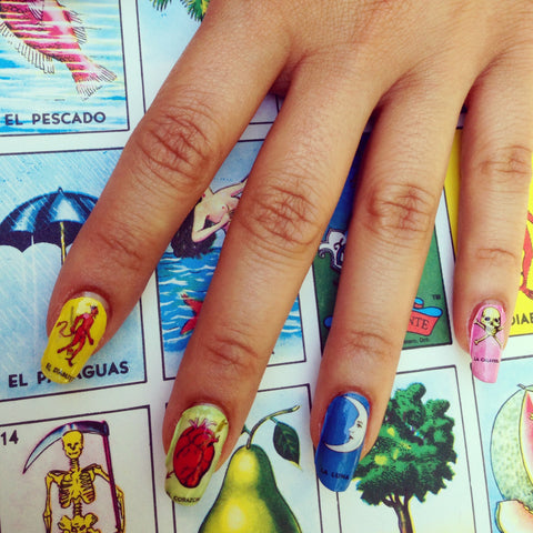 Mexican Loteria Nail Decals