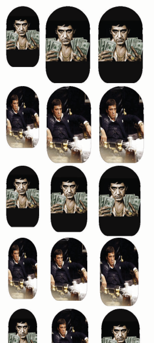 Tony Montana Nail Decals