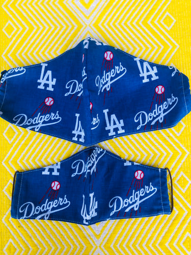 Los Angeles Dodgers Face Mask Average, Large and Tween sizes