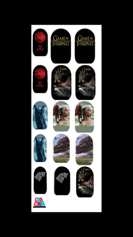Game of Thrones Dragons Nail Decals