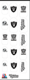 Football Fab clear nail decals