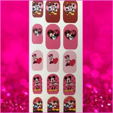 Valentine Mouse Nail Decals