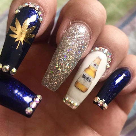 Modelo Mexican beer nail decal