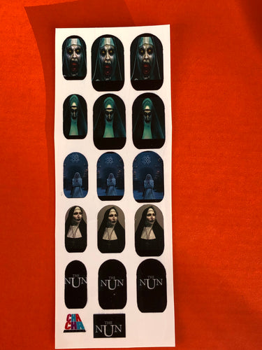 Scary Nun Halloween Nail Decals