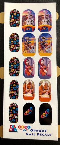 Day of the Dead Coco Nail Decals