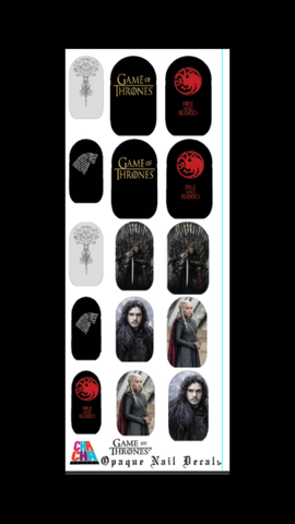 Game of Thrones Nail Decals