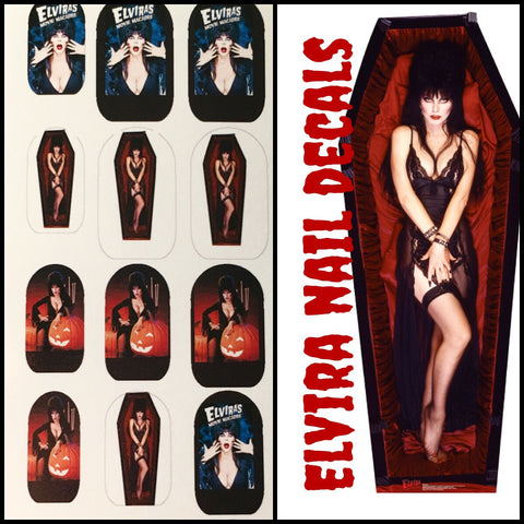 Elvira Sexy Spooky Nail Decals