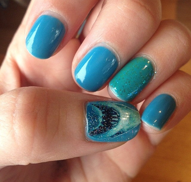 Shark Week Jaws Shark Nail Decals
