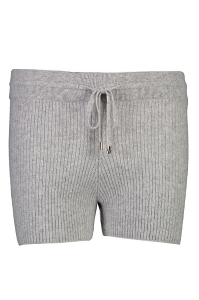 Ribbed Cashmere Boy Short