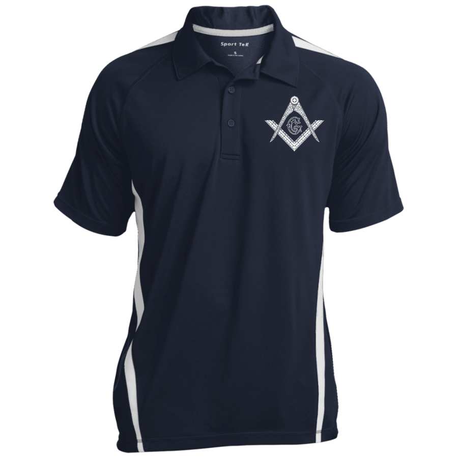 Square & Compass Colorblock 3-Button Polo