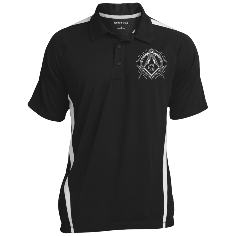 Colorblock 3-Button Polo (Vintage Square & Compass Logo)
